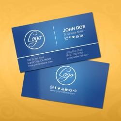 Basic Blue Business Card Template